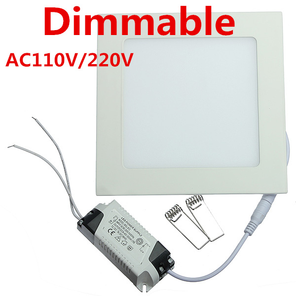 25 Watt Dimmable Ultra thin design LED Dimmable Ceiling Recessed Grid Downlight / Slim Square Panel Light(China)