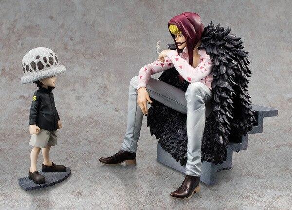 2pcs/lot Action figure One Piece Trafalgar Law Heart Corazon 12-16cm PVC Toys cartoon Dolls gift Collectible Model Anime B597<br>