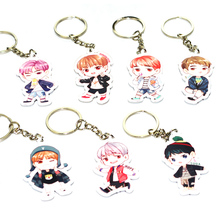 LNRRABC 1PC Hot Fashion Cute Kpop BTS Bangtan Boys Suga Acrylic Keychain Keyring Bag Purse Phone Pendant