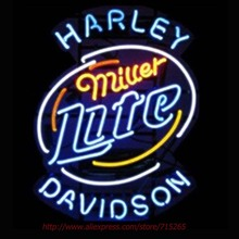 Miller Lite Neon Bulbs Harle David Neon Sign Real Glass Tube Handcrafted Shop Advertising Neon Lamp Bulb Indoor Motel Sign 24x31