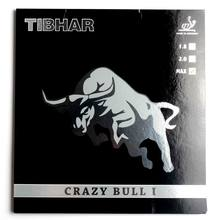 Original Tibhar CRAZY BULL I table tennis rubber for 40+ new material ping pong game made in Germany good in speed and spin(China)