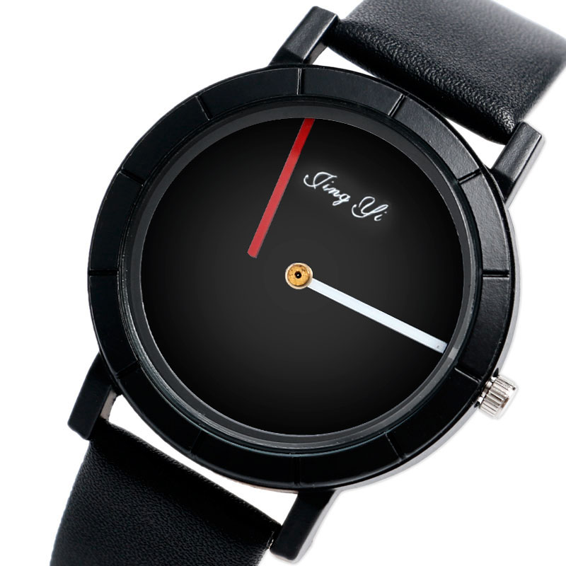 2017 New Arrival No Second Hand Creative Women Men Black Quartz Watches with Leather Band Fashion Cool Wristwatch Relojes Montre<br><br>Aliexpress