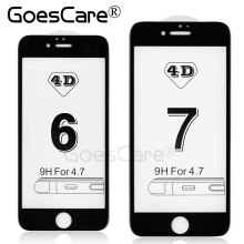 GoesCare 4D Full Cover Tempered Glass For iPhone 7 &7 Plus 3D Curved Edge Screen Protector Film For iPhone 6 6S Plus
