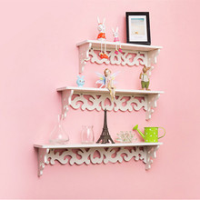Rococo furniture white wall shelf Bookcase Bookshelf / Hanger /wall hanger/ wall decor/ book Rack/ wooden Storage/wood shelf