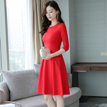 2017 New Autumn Women dress Little Big At Least 20 Dresses Red Black 5891(China)