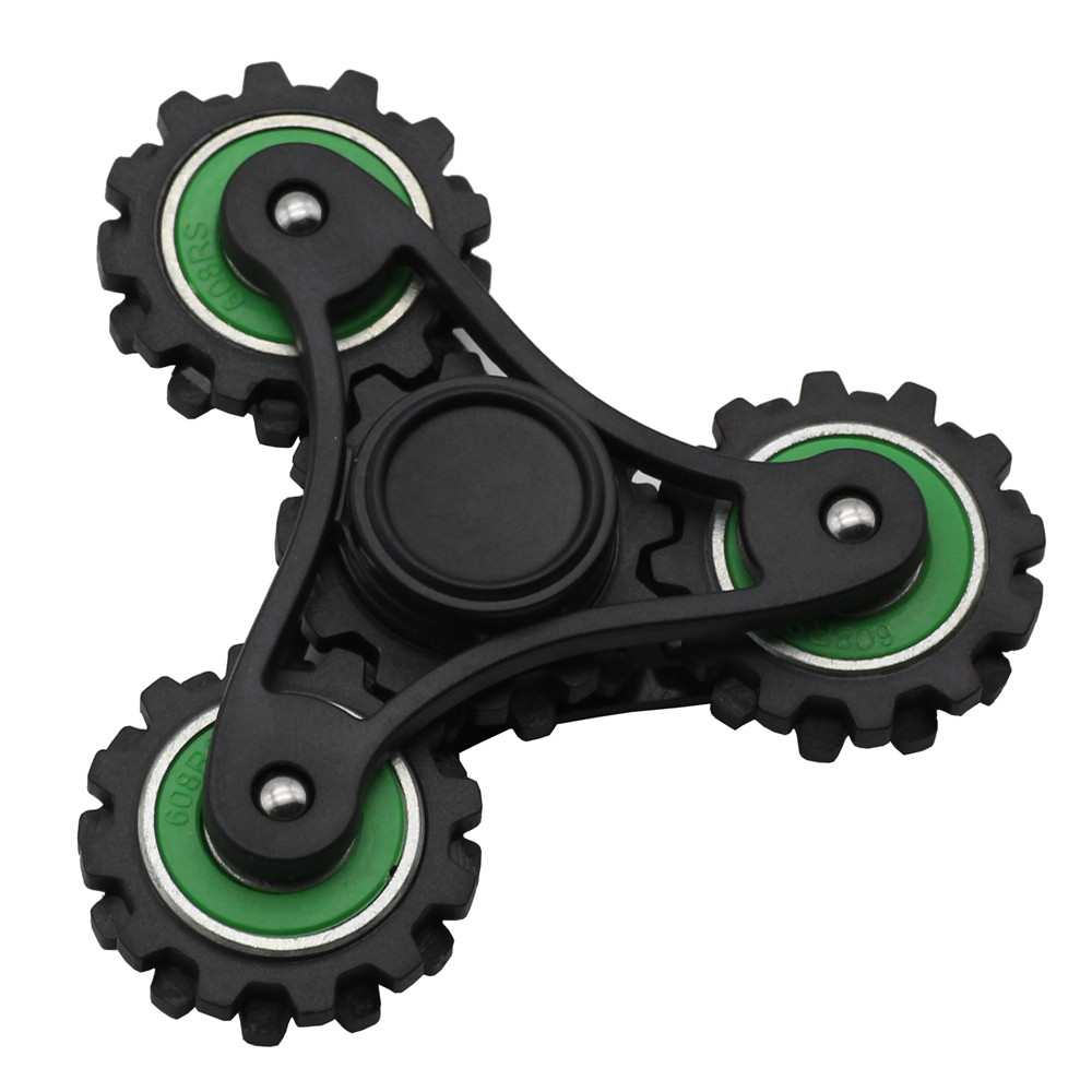 New Antistress Fidget Tri Spinners Spiners Plastic ADHD Hand Spinner Four gears Linkage Wheel Cube Toys Adults Children Gifts