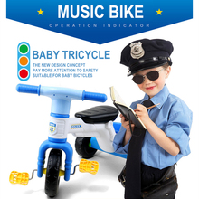 Kids Tricycle Music Version Ride On Bikes Baby Walkers Stroller Cars Children's Bicycles Safe Ride Bicycle Activity Gear Toys