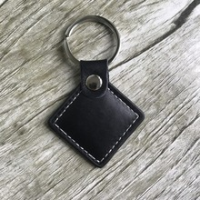 1PC RFID EM4100 Leather keychain tag 125KHZ Low frequency