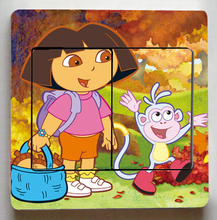 3 Pcs/Lot Dora the Explorer Switch Stickers,Cute Dora the Explorer Wall Stickers,Children Room Decor Light Switch stickers