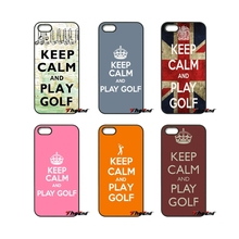 For iPod Touch iPhone 4 4S 5 5S 5C SE 6 6S 7 Plus Samung Galaxy A3 A5 J3 J5 J7 2016 2017 Keep Calm And Play Golf UK Case Cover(China)