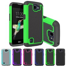 Protective Capas Covers For LG Spree / LG Optimus Zone 3 Zone3 VS425 / K4 K121 Phone Funda Coque Plastic PC Silicone Dual Cases(China)