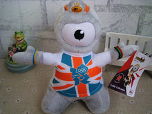2012 UK Olympic Game Mascot Wenlock Cute Stuffed Plush Toy Doll Gift for Kids Birthday Gift Doll Collection(China)