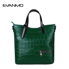 Big Sale Women's Genuine Leather Handbags Fashion Black Leather Shoulder Bag Women Big Bags Purse Cheap Messenger Bags for Gift(China)