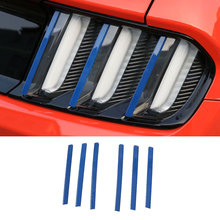 Car Styling Tail Lights Straight Trims Rear Taillight Cover Exterior Trim For Ford Mustang 2015 Up Free Shipping Blue Silver