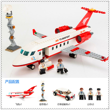GUDI 8911 334Pcs Airplane Transport Air Bus Building Block Compatible Legoe Educational Toys For Children(China)