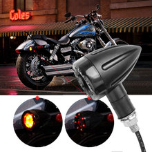 2016 2PCS Universal 12V Motorcycle LED Light Front Rear Turn Signals Indicators Amber Red for Honda for Harley Motorcycle Lights