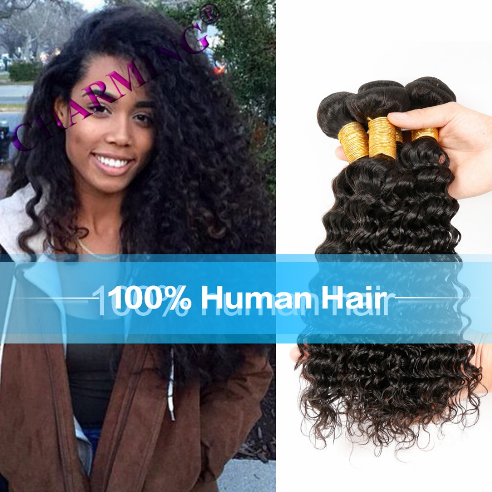 Charming Unprocessed Virgin Hair Malaysia Deep Wave Three Pieces/lot Cheap Hair Bundles Human Hair Weave Extensions<br><br>Aliexpress