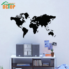 DCTOP Hot Sale Modern Home Decoration PVC Removable School Office Wall Sticker Map Of The World