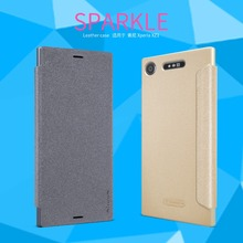 Buy case Sony Xperia XZ1 Nillkin Sparkle flip cover PU leather case Sony Xperia XZ1 5.2 inch Retail Package for $7.91 in AliExpress store