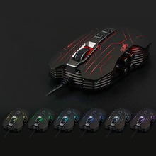 2016 New G5 Full Speed Photoelectric braided Wired Gaming Mouse With 3200DPI 9 Keys