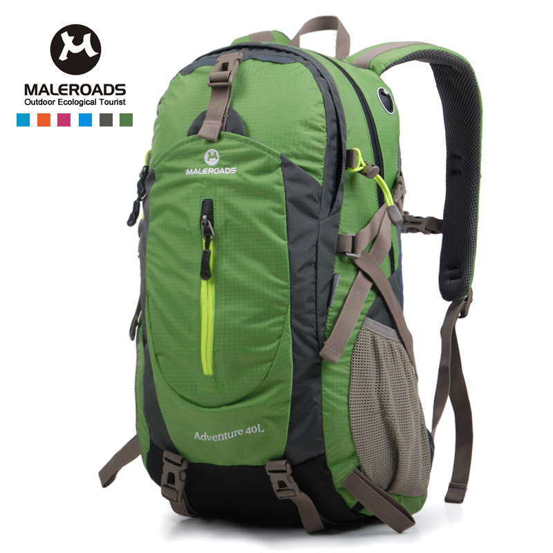 100% Good Feedback Maleroads Daily Backpack Travel Climb knapsack Camp Hike Rucksack DayPack for Men Women Teenger Boys Girl 40L<br>