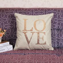 Decorative love Letter cushions cover wholesale cheap price without inner throw pillowcase sofa home decor factory driect sale(China)