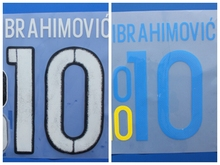 New Sweden IBRAHIMOVIC football number name font print, Hot stamping Soccer patches badges