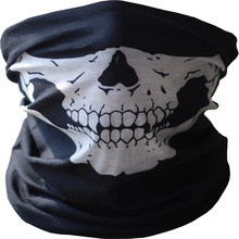 1Pc masquerade mardi gras halloween skull party black mask neck scary masks motorcycle multi function headwear mask
