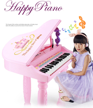 instrumentos musicais Children's toy piano musical instruments microphone music educational toys girl