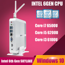 SKYLAKE Intel Core i7 6500U win 10 Mini PC Mini PC i7 Intel HD Graphics 520 4K Windows TV Box Core i5 Barebone Minipc Linux