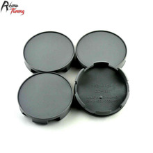 Rhino Tuning 58mm 4PC Auto Styling Car Wheel Centre Cap Hub Cap ABS Grey Emblem For Accord Pilot Center Caps 718(China)