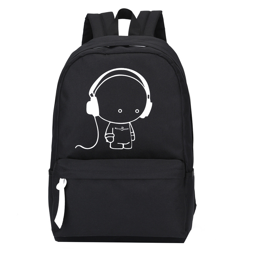 2017 New Arrival Oxford Music Boy Printing Backpack Shoulders Bag Nightlight Doubles Casual School Bags Boys School Backpack<br><br>Aliexpress