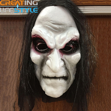hot New halloween mask Long Hair Ghost Mask Blooding Ghost Cosplay Costumes realistic silicone masks masquerade Costumes Party