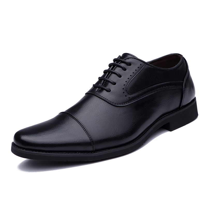 men spring working shoes luxury brand italian eurpean style pointed toe elegant male footwear dress working oxford shoes for men (1)