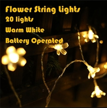 Bauhinia partition screen DIY LED battery light string of lamps waterproof outdoor wedding home christmas birthday party lights(China)