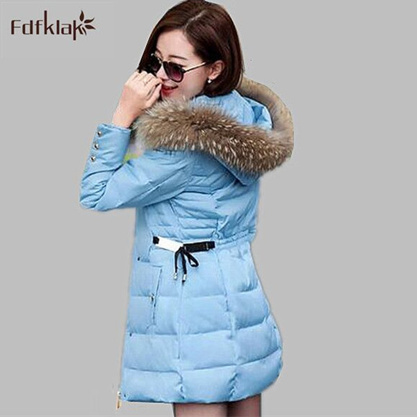 Fashion Coats &amp; Jackets Hooded Winter snow Jacket Women Fur collar winter coat women Long Cotton-padded Coat Plus Size M-3XL Одежда и ак�е��уары<br><br><br>Aliexpress