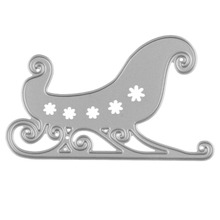 Cartoon Christmas Sleigh Cutting Dies Scrapbooking Embossing DIY Paper Cards Cutter Stencils