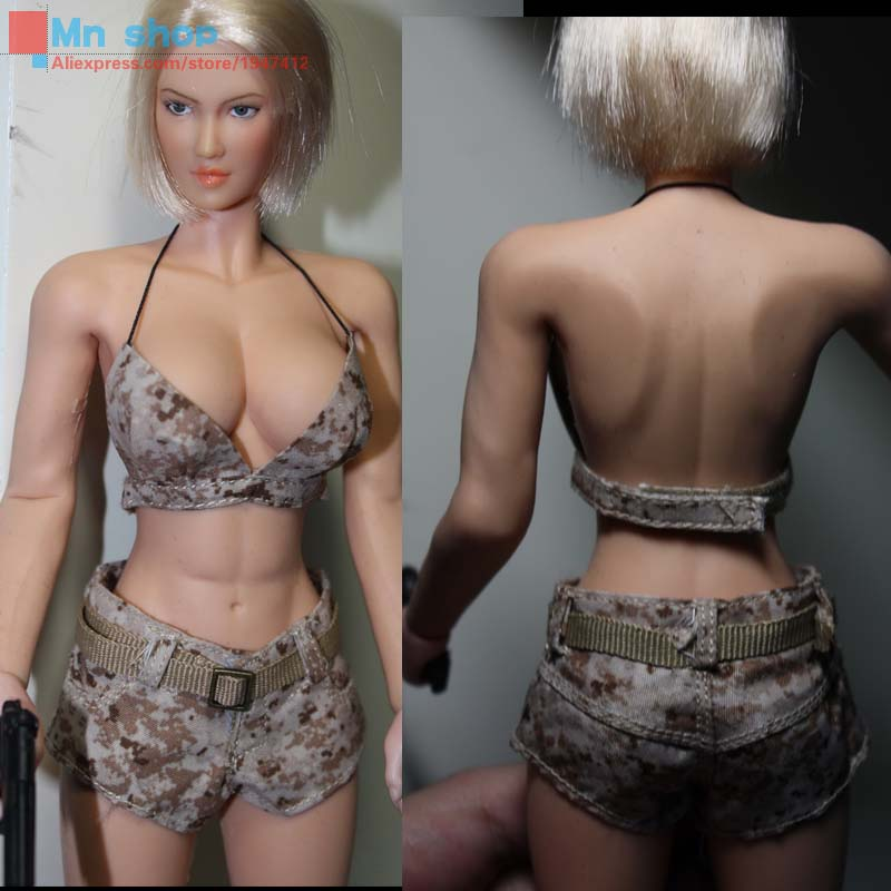 Free Shipping 1/6 Sexy Fighting Women Camouflage Sets 3 Colors For 12 Female Phicen Doll Action Figure Body Accessories<br><br>Aliexpress