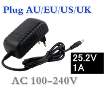 25.2V 1000mA 1A 5.5*2.1mm Universal AC DC Power Supply Adapter Wall Charger For lithium battery pack EU/AU/US/UK Plug