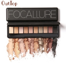 OutTop  Earth Matt Pearl Warm Smoked 10 color Eye Shadow Palette Color Cosmetics Tool  hot C2017 May18