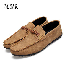 Buy Men Casual Suede Leather Loafers Driving Fashion Comfortable Soft Moccasins Slip-On Shoes Men Flats Shoes Male Footwear DG003 for $17.16 in AliExpress store