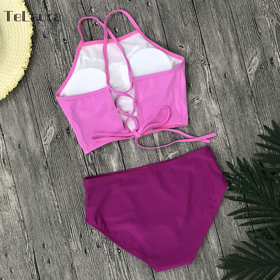 Sexy High Neck Bikini, Women's Swimwear, Push Up Swimsuit, Brazilian Bikinis, Women Bathing Suit 32