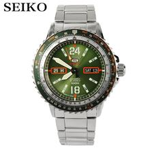 Seiko 5 Automatic SPORTS ST AVIATOR 24 jewels Men's Black dial watch Made in Japan SRP347J1 SRP349J1(China)