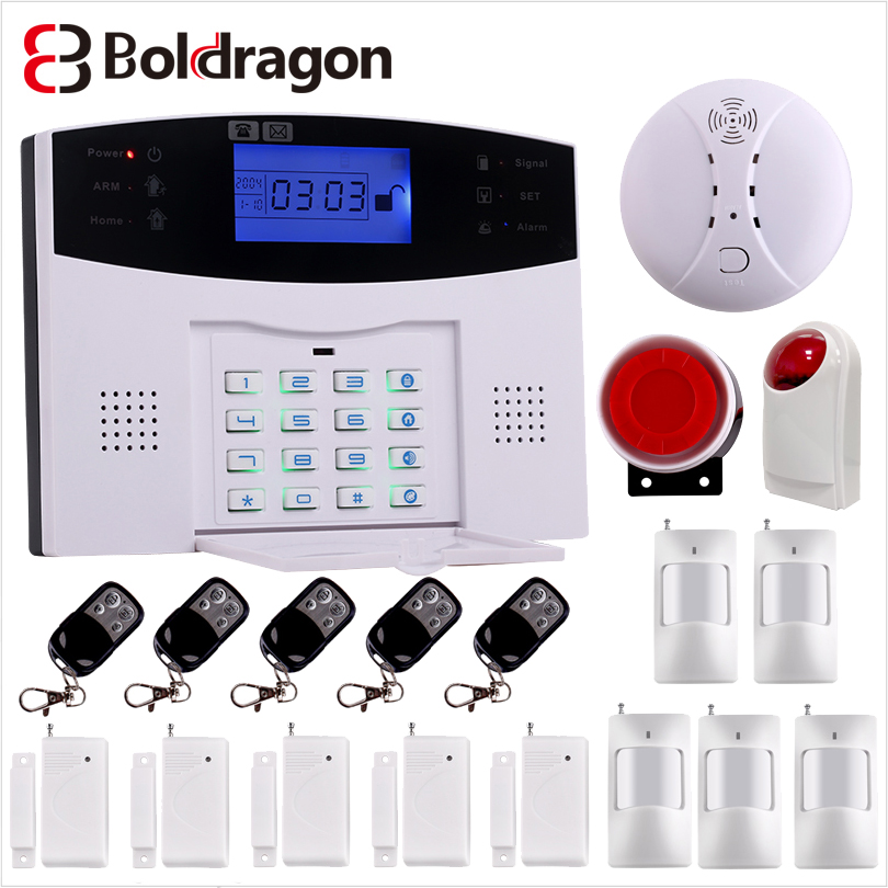 Alarm-System Intercom-House Remote-Control Smart GSM Home-Security Wireless Autodial-Siren-Sensor-Kit title=