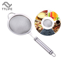 TTLIFE Hanging Stainless Steel Pot Soup Ladle Long Handle Soup Ladle Wall Hanging Spoon Skimmer Strainer Set Kitchen Cooking