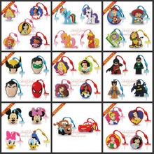 Free DHL  500pcs Super man avengers princess PVC Dust Plug Phone Pendants Mobile phone accessories Phone Strap ropes