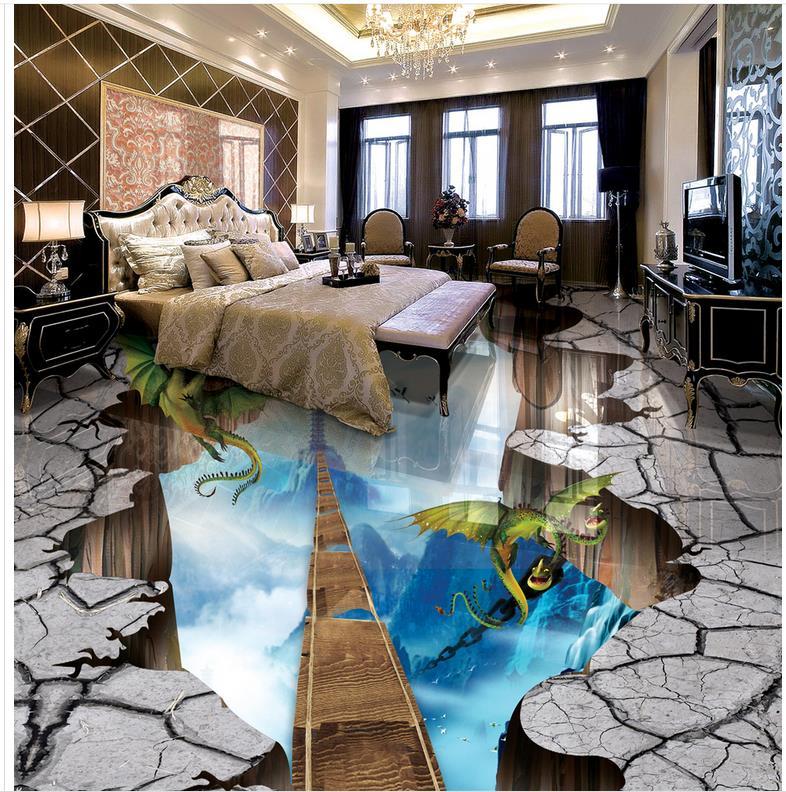 3D wall murals wallpaper floor ladder 3d floor wallpapers PVC waterproof floor  Home Decoration 3d floor murals   <br><br>Aliexpress
