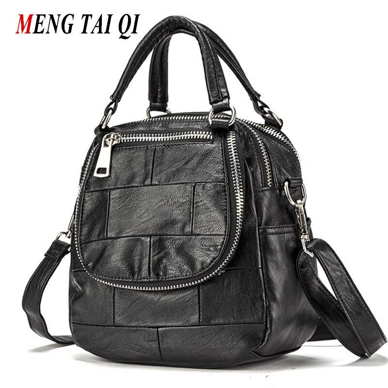 Women Bag 2016 Handbag Leather Shoulder Bags Ladies Messenger Bag High Quality Brand Satchels Patchwork Zipper Bolsa Feminina  4<br>