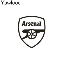 Yawlooc 1 pc 12*10.5cm Europe Top Club Arsenal FC Car Head Stickers Truck Door Tail Decor Mural Art Vinyl Decoration Soccer Wind