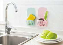 Ouneed Hot Selling Attached Wall Kitchen Sink Shelf Hanging Basket Bathroom Receive Storage Bag Kitchen sundires Storage Bag